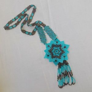 Handwoven beaded flower